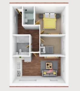 3D floor plan- A