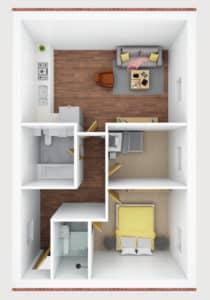 3D floor plan- F