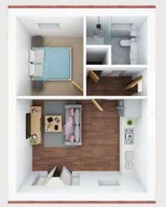 3D floor plan- I
