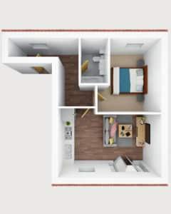 3D floor plan- J