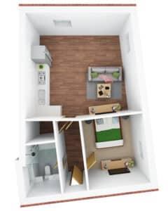 3D floor plan- K