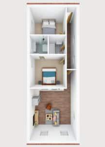 3D floor plan- L
