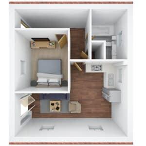 3D floor plan - P