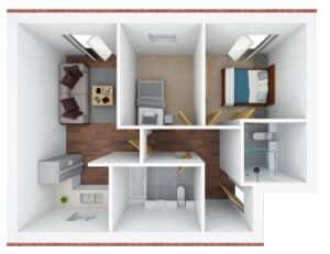 3D floor plan - R