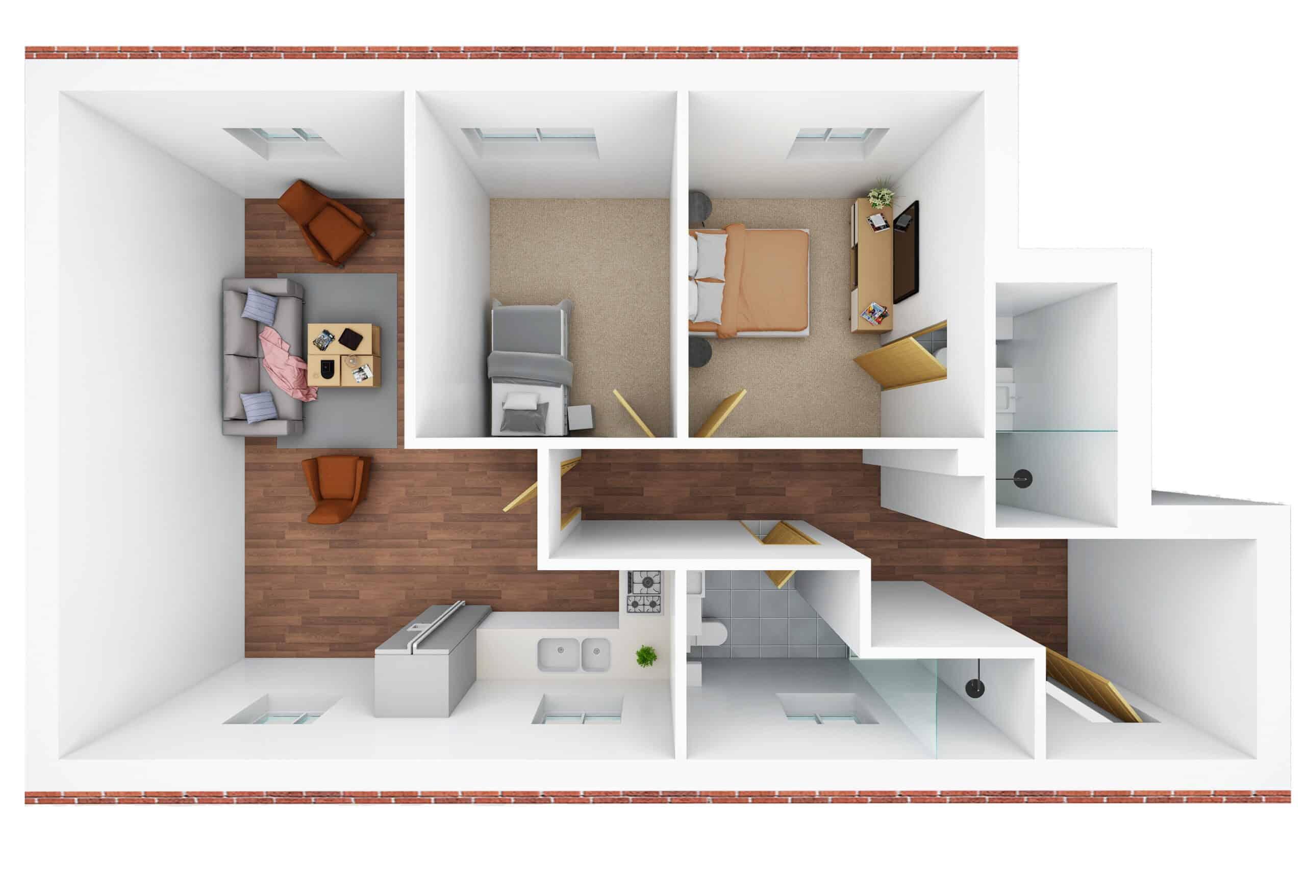3D floor plan- M