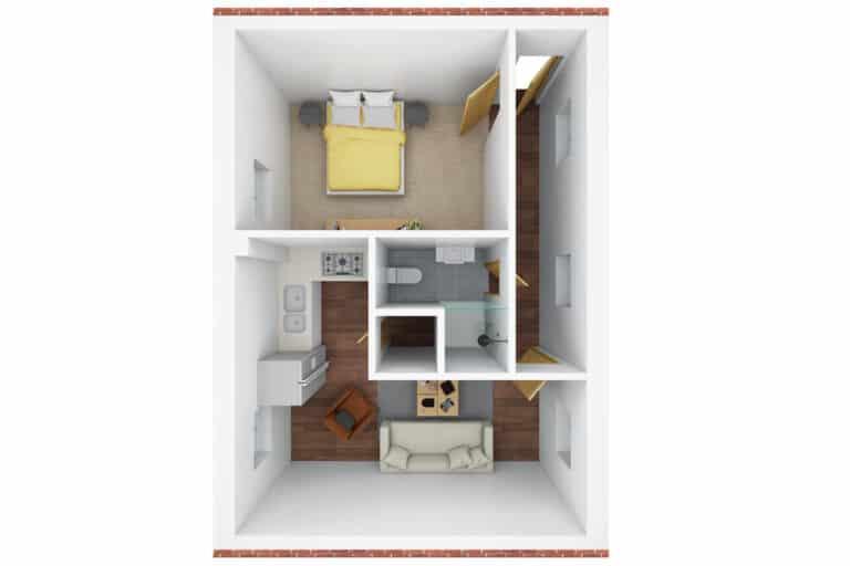 3D floor plan - S