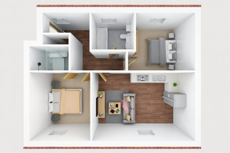 3D floor plan- D
