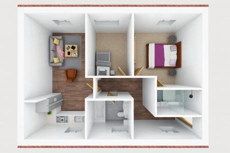 3D floor plan- N