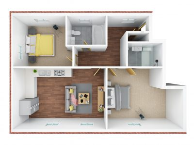 3D floor plan- No36 & 38