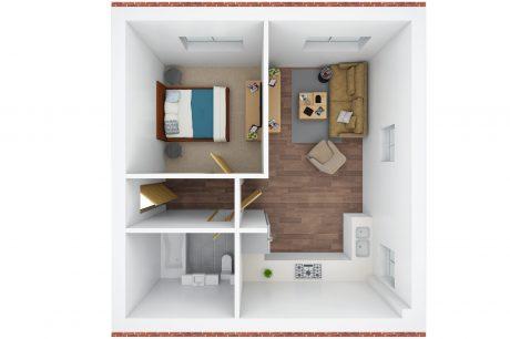 3D floor plan - O